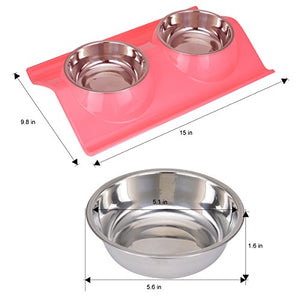 Double Stainless Steel Pet Bowls