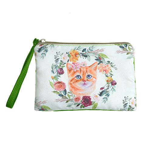 Charming Cat with Flowers Design Small Bag for Women by Rantanto