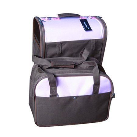 Twin Pet Carrier with Two Zippered Doors