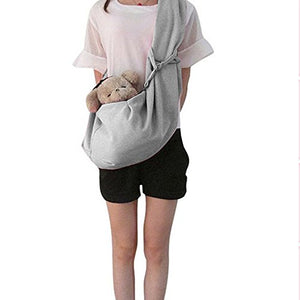 Outdoor Pet Sling Shoulder Bag - Gray Color