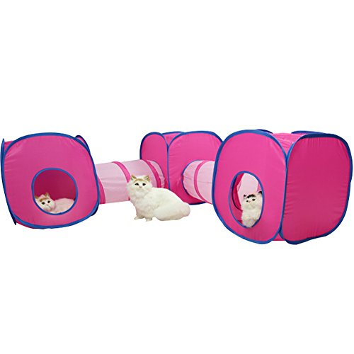 Collapsible Tunnel Cube Toy for Kitties and Cats