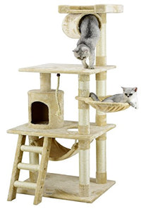 "Go Pet Club 62"" Cat Tree Condo Furniture, Beige"