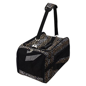 Leopard Printed Pet Carrier