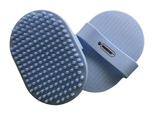 Pixikko Pet Curry Shampoo Brush/Comb, (Blue)