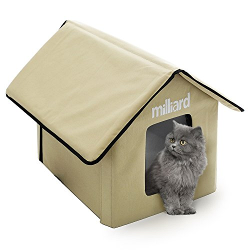 Outdoor Cat House with Removable Flaps