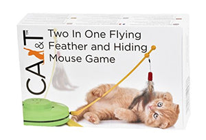 Hiding Mouse Cat Feather Game