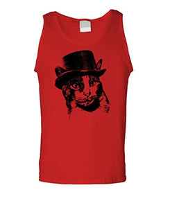 Red Tank Top - ORANGE CHARLES STEAMPUNK CAT