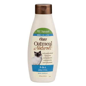 Oatmeal Naturals 4-in-1 Cat Shampoo by Oster, Natural with No Artificial Colors