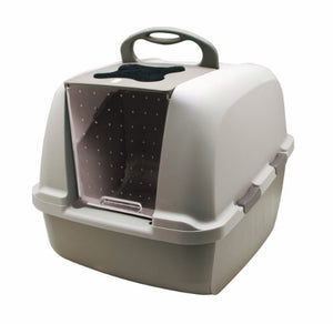 Cat Litter Pan with Hood Lifts