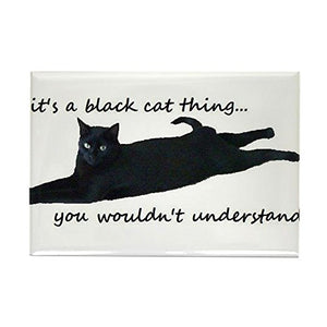 """Black Cat Thing"" Magnet, 2.125""x3.125"""