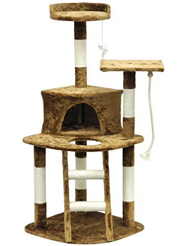 Faux Fur Covered Economical Cat Tree