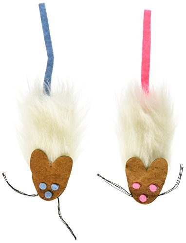 Synthetic fur Frank and Fifi Cat Toy