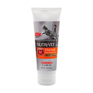Nutri-Vet Hairball Paw-Gel for Cats, Chicken Flavor