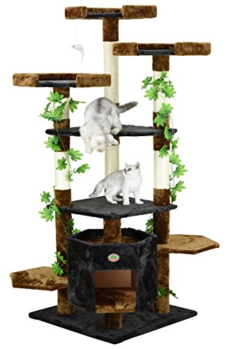 Go Pet Club Brown/Black Cat Tree