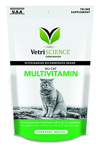 VetriScience Laboratories Nu Cat Multivitamin for Cats, 30 Bite Sized Soft Chews