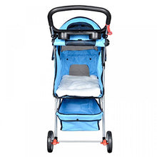 Blue Stroller Cage for Cats & Dogs