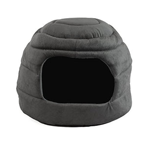 Gray Igloo Pet House Bed