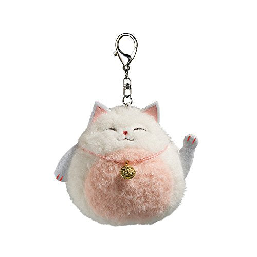 Lucky Cat with Lovely Details Plush Keychain