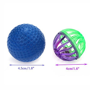 Durable Plastic Bell Cat Ball