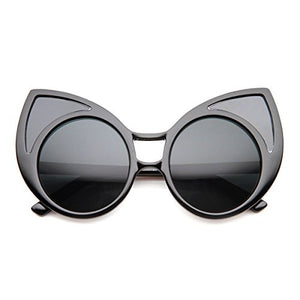 Womens Oversized Window Cat Eye Sunglasses,  52 Millimeters
