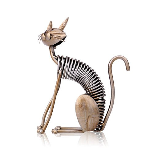 Metal Sculpture Unique Design Handmade Iron Art Cat