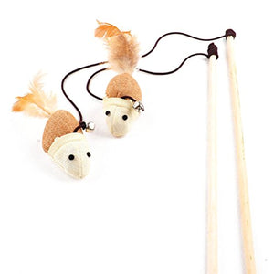 Interactive Cat Toy Wand with Bell