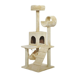 PawHut Cat Tree Tunnel Playground Activity Scratcher