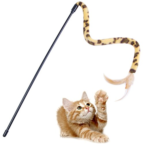 Leopard Cat Wand Toy