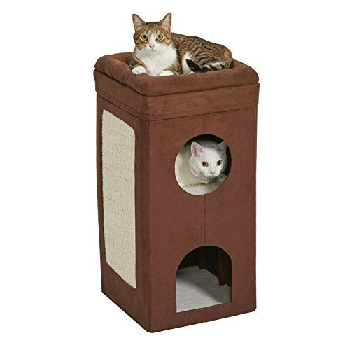 Cat Cube House with Scratching Pad