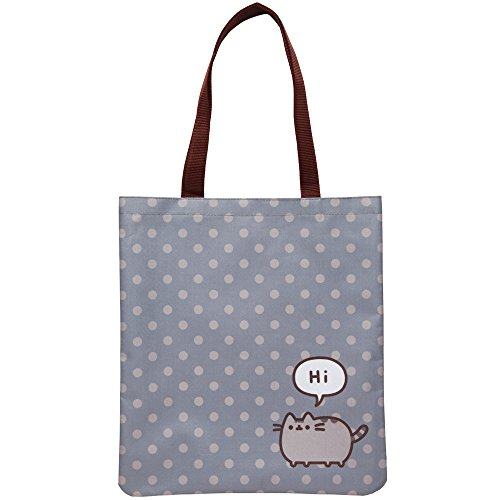 Woven Pusheen Tote Bag with All-over Polka Dot Print
