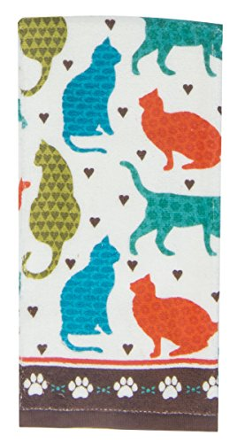 Terry Towel Printed with Loads of Cats