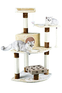 Go Pet Club Pressed Wood Cat Tree with Play Box