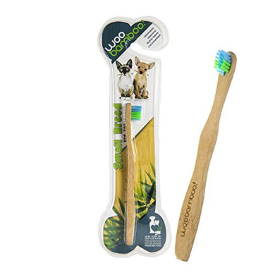 WooBamboo Small Breed Bamboo Pet Toothbrush, Wooden