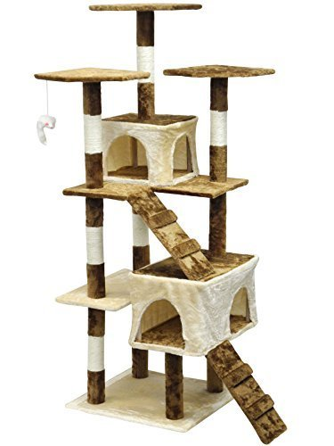 Light Weight Wood 4 Floors Cat Tree Furniture
