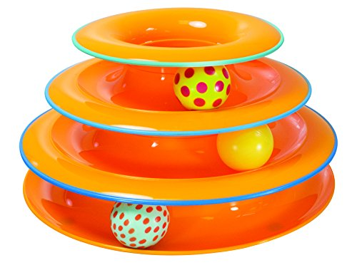 3 Balls Spin & Roll Tower Toy for Cats