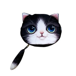 "3D Cat Face Coin Purse Case by ABCmall, 5.9"" x 4.7"""