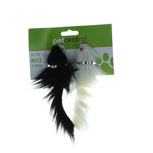 Black Furry Mice Toy