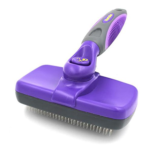 Self Cleaning Slicker Brush by Hertzko, 3.2 ounces