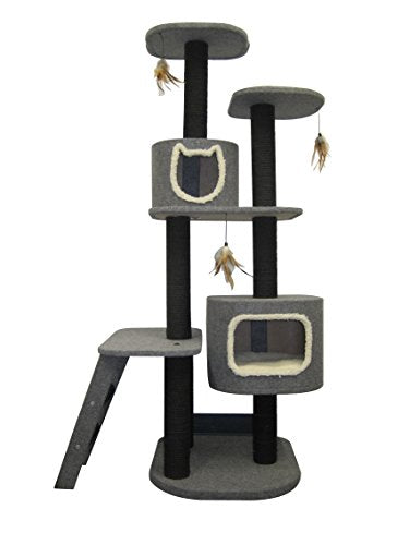 Penn Plax Cat Tower 5-Level Climbing Tree