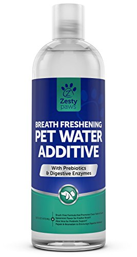 Zesty Paws Water Additive for Pets, Prebiotic Support for Gut Health