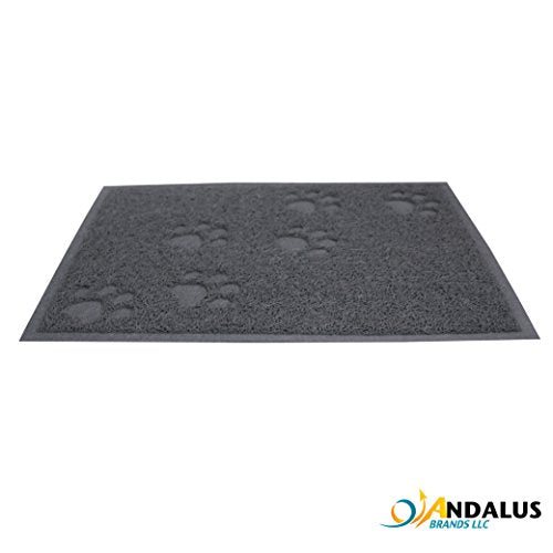 Cat Litter Trap Mat by ANDALUS, Anti-Slip Backing