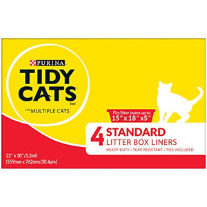 Tidy Cats Standard with Ties Litter Box Liners by Purina
