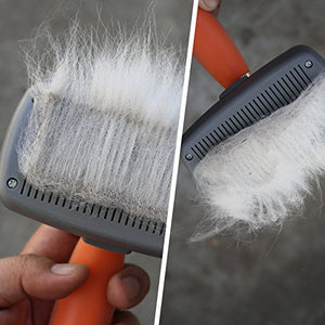 Professional Slicker Brush for Pets, Gentle, Easy and Fast Results