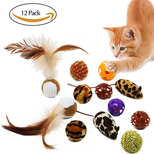 12-Pack of Cat Toys