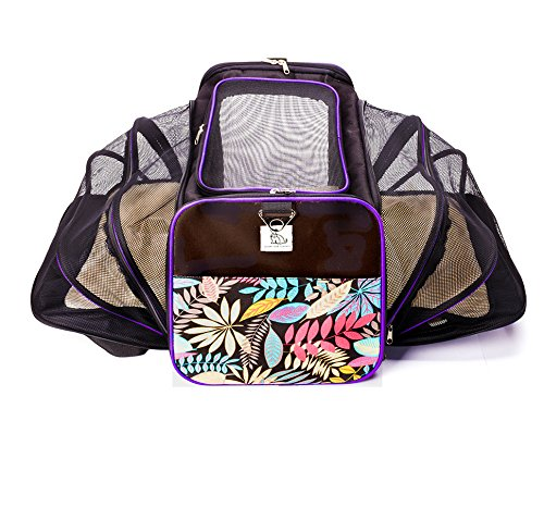 Colorful Expandable Luxury Dog and Cat Pet Carrier