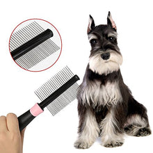 TPCROMEER Double-Sided Shedding Grooming Brush for Pets