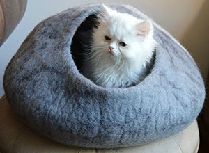 Neutral Color Cat Cave Bed