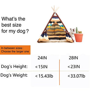 Multicolored Teepee Cat Bed
