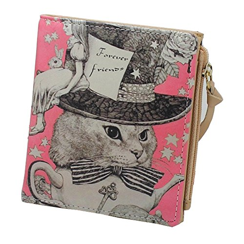Women Doodle PU Leather Purse Bifold Wallet by Moonwalk (Forever Friends)