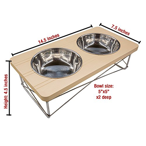 Stainless Steel Elevated Feeder Bowls
